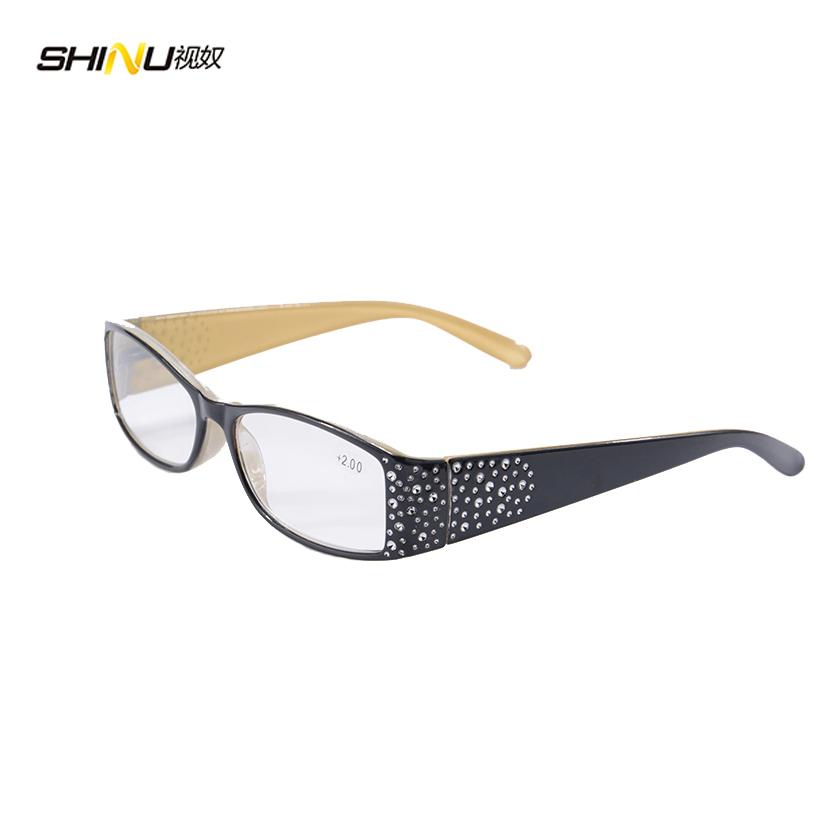 1pcs Brand Designer Reading Glasses Women Diptor Eyeglasses Reading Diamond Frame Eyewear Magnetic Reading Glasses(China (Mainland))