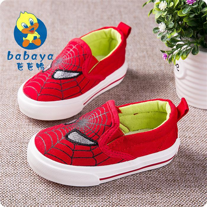 2015 Babaya Autumn spider cartoon slip on soft canvas baby infant boys girls toddle child easy sneaker baby first walkers shoes(China (Mainland))