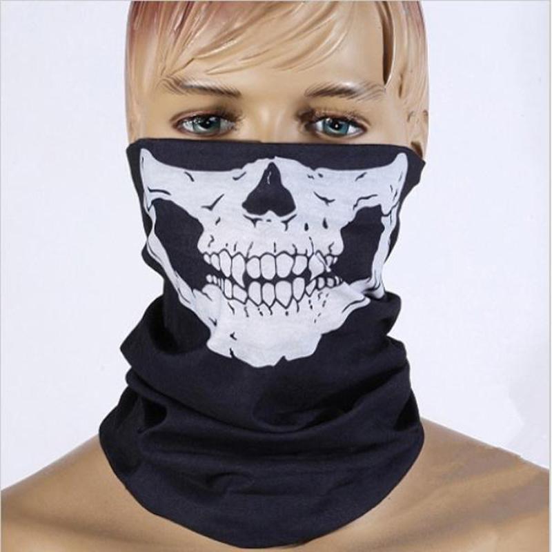 Seamless Skull Print Collar Scarf for Men Variety Magic Scarf Halloween Mask Warm Hooded Outdoors Multi-use Bandanas(China (Mainland))