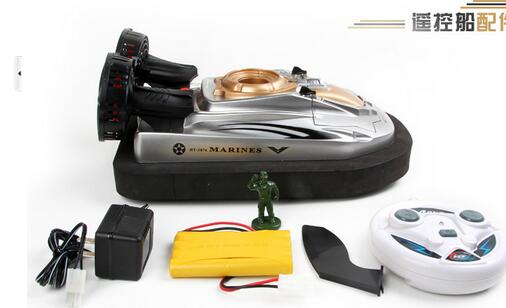 Hengtai 2876A simulation 2.4G remote military air force amphibious amphibious Hovercraft science toy boat(China (Mainland))