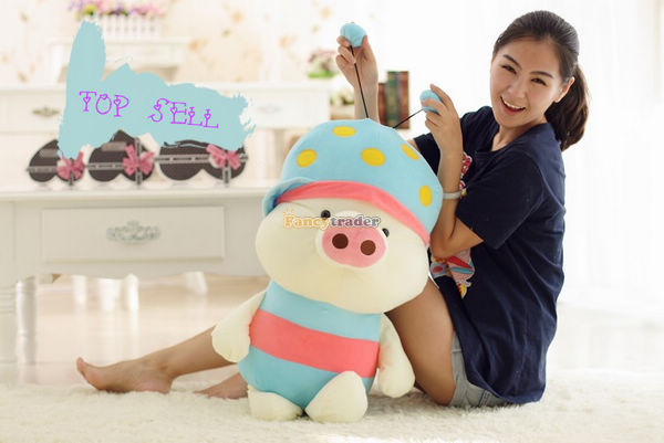 Fancytrader 39'' / 100 cm Giant Plush Stuffed Mcdull, Giant Plush Mcdull Pig, 2 colors available Free Shipping FT90112(China (Mainland))