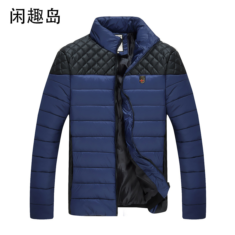 2016 Hot Sale Men Winter Splicing Cotton-Padded Coat Jacket Winter Plus Size Parka High Quality(China (Mainland))