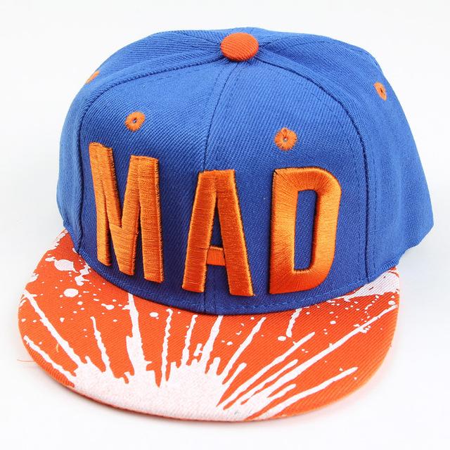 Дети бейсболки младенцы шляпы и шапки хип-хоп стиль с ума снэпбэк кепка мальчики-младенцы девочки фуражке кепка 6 цветов для выбора