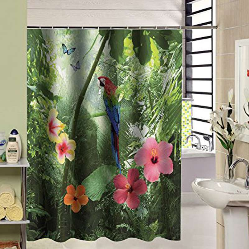shower curtain bathroom nature bath curtain in shower curtains from