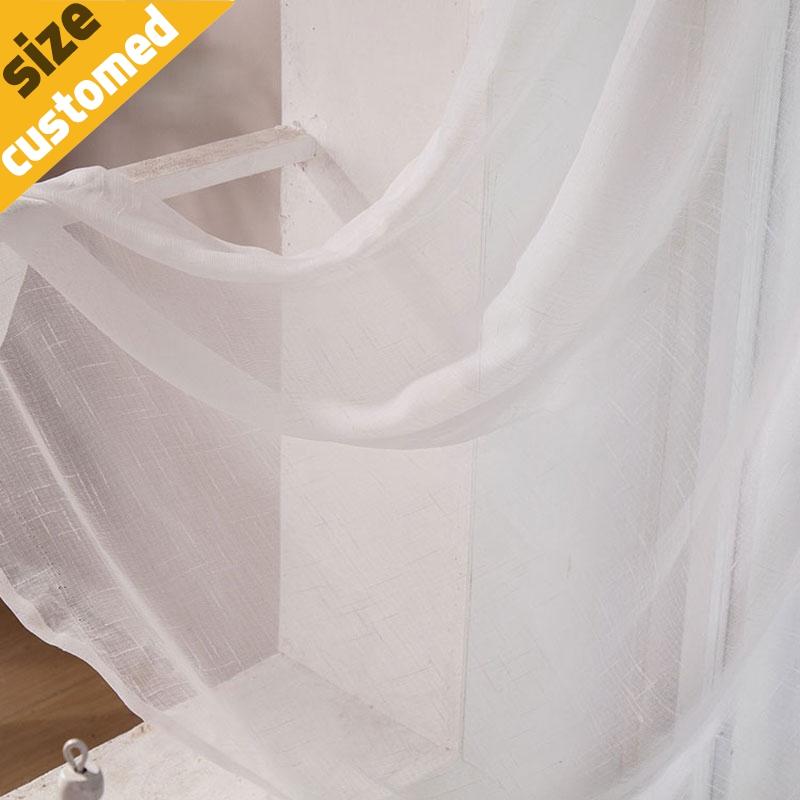 Design moderno Semplice Tulle Tenda di Finestra Tenda Filato Bianco ...