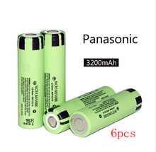 6pcs original 18650 battery electronic cigarette Lithium battery NCR18650BE 3.7V 3200 mAh applicable for Panasonic