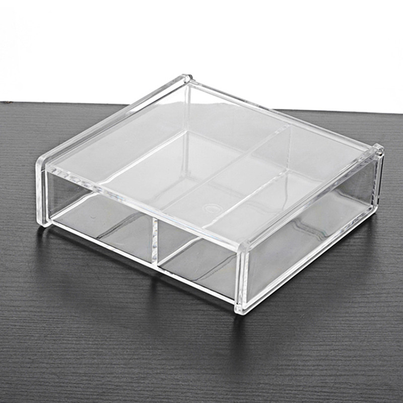 Hot small grids design clear acrylic jewellery display stands rack jewelry container organizer box championship ring display box(China (Mainland))