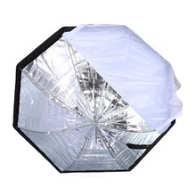Lightupfoto Portable 80cm Octagon Umbrella Softbox Brolly Reflector Flash light Softbox for Speedlight metal shaft D1190(China (Mainland))