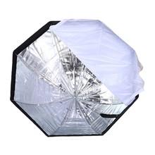 Lightupfoto Portable 80cm Octagon Umbrella Softbox Brolly Reflector Flash light Softbox for Speedlight metal shaft D1190(China (Mainland))