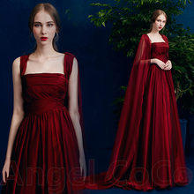 Robe De Soiree 2017 Wine Red Sexy Long Evening Dresses Bride Banquet Elegant Burgundy Prom Dresses Moroccan Kaftan Abiye Saree(China (Mainland))