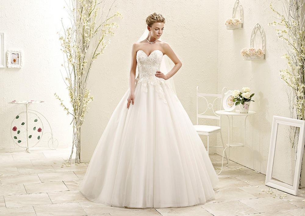 Ball Gown Wedding Dress Material : Ball gown wedding dress bridal floor length