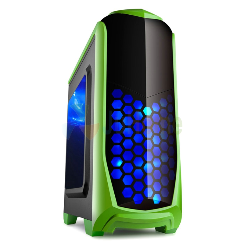 Game Computer case, 120mm fan *5, 7 PCI slots, USB3.0, game case, gamer computer, GoldenField chaoyue Apple green(China (Mainland))