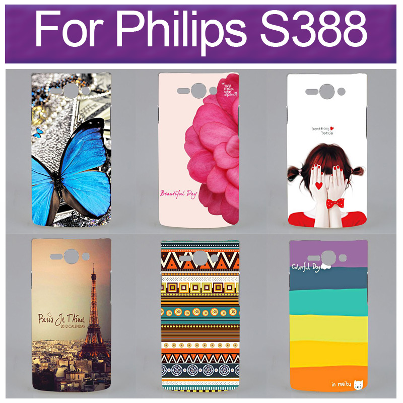 New Painting Design Cell Phones Hard Case For Philips S388 CASE(China (Mainland))