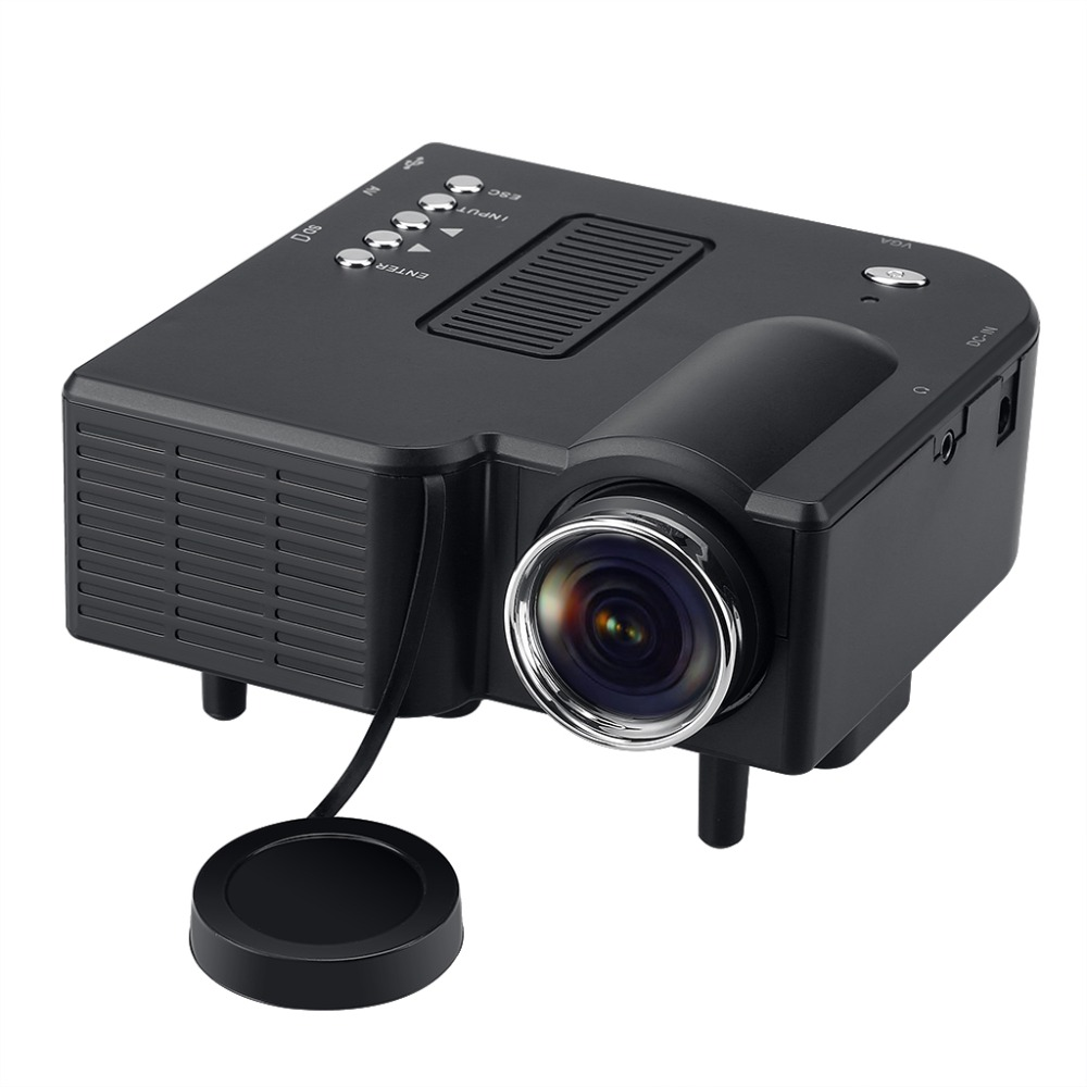 Excelvan led lcd portable mini multimedia projector av for Small lcd projector reviews