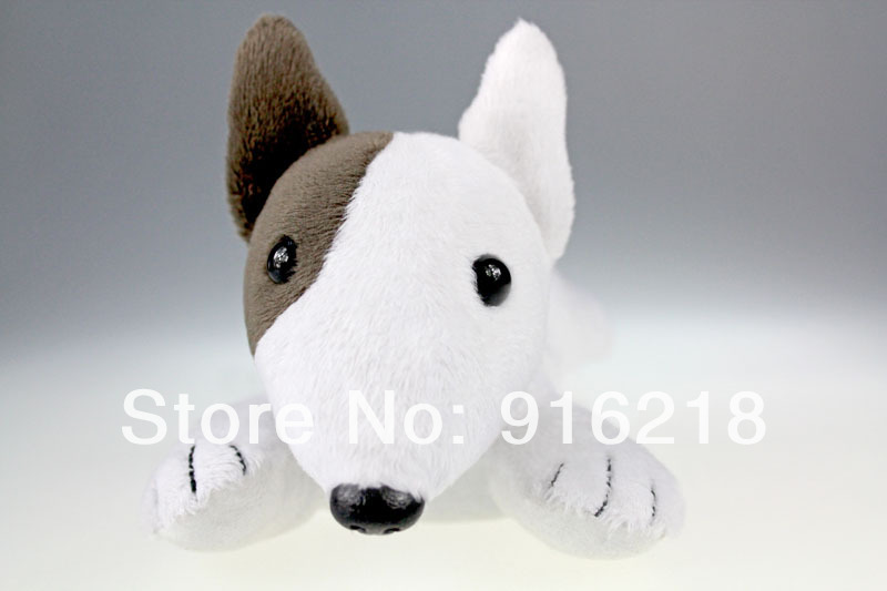 High Quality Puppy Shaped Wrist Rest Screen Wiper Cleaner Bull Terrier Dog Big Eyed Stuffed Animals Plush Toys(China (Mainland))