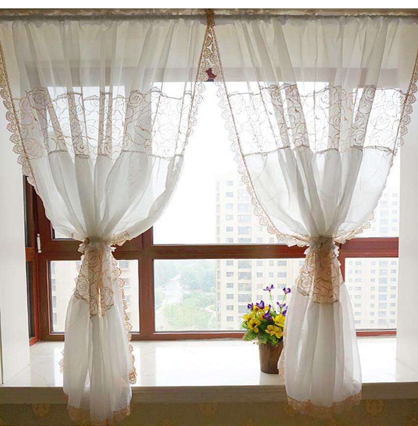 achetez en gros dentelle sheer rideaux en ligne des grossistes dentelle sheer rideaux chinois. Black Bedroom Furniture Sets. Home Design Ideas
