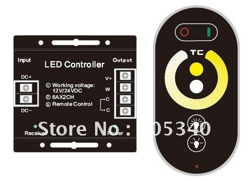 finger touch color temperature controller wireless  controller DC12V 6A *2CH 144W