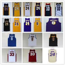 Kobe bryant pallacanestro jersey, top quality vintage bryant, high school di ritorno al passato basketball jersey cucita lgos spedizione gratuita(China (Mainland))