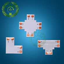 10pcs/lot 10mm 2 pin welding free corner connector 5050 corner connector L T X styles for no waterproof 5050 LED strip