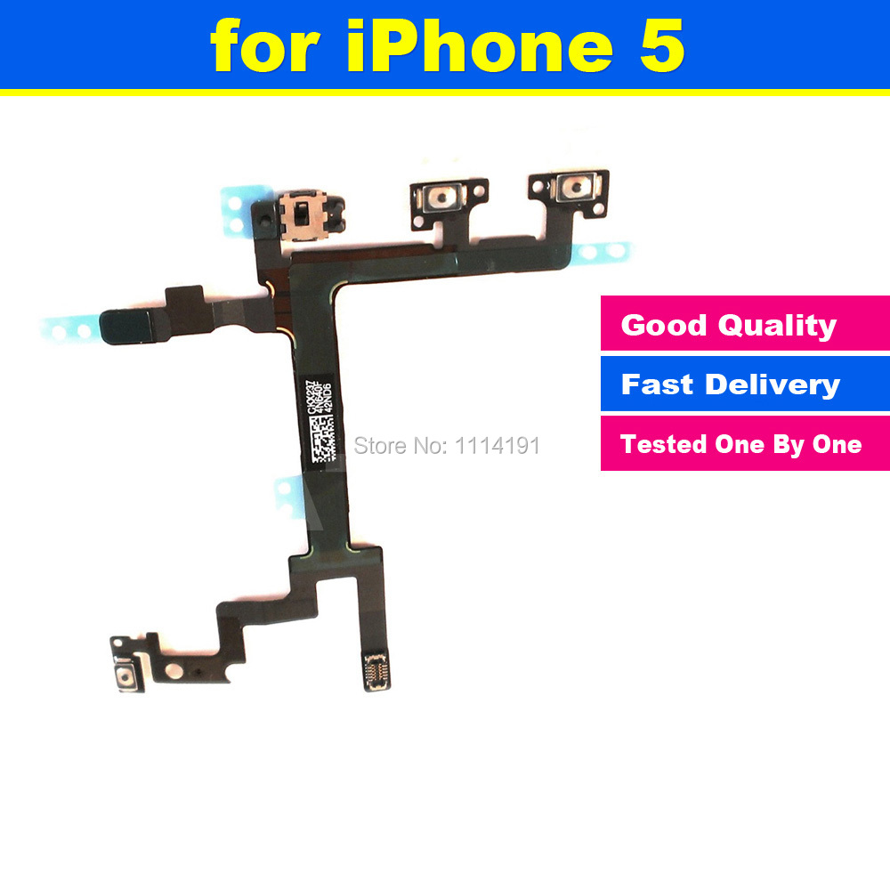 New Original for iPhone 5 5G Power Mute Volume Button Switch Connector On Off Flex Cable Ribbon(China (Mainland))