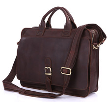 6020Q-2 100% Real Crazy Horse Leather Men's Briefcases Handbag Bag Laptop bag Hot Selling(China (Mainland))