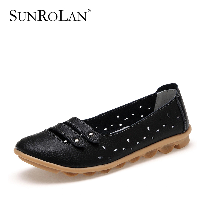 2014 women sandals summer genuine leather shoes woman cut-outs flats fashion slip-resistance women's beach 1133-5 - SHOES COUNTRY store