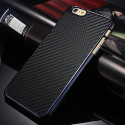 Real Carbon Fiber Case iPhone 6 Plus 6s 5.5inch Hard Back Cover Plus,Business Black Brown color stock - CaseMe Official Store store