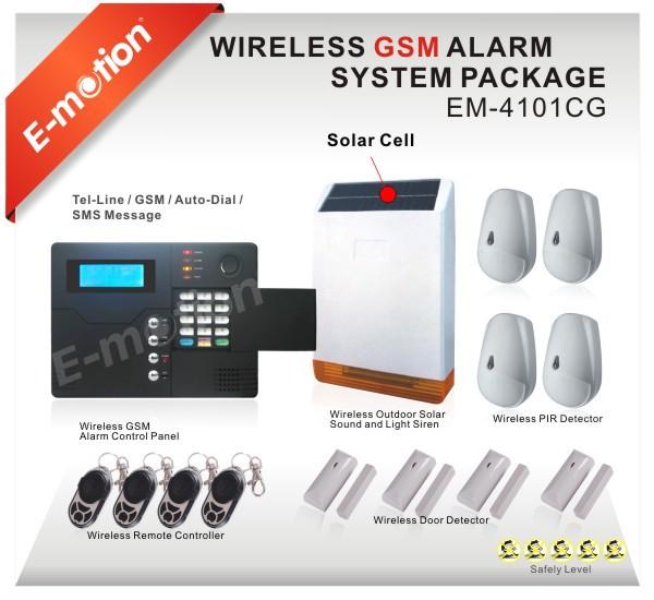 Fast, 433 или 868 24 беспроводная зон и 8 проводная зон gsm сигнализация ( 850 / 900 / 1800 / 1900 мГц ) жк-дисплей экран