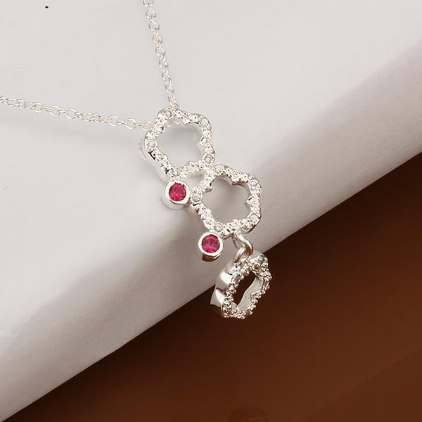 Flower exports to Europe and America hollow spot fashion jewelry necklace gift s925(China (Mainland))