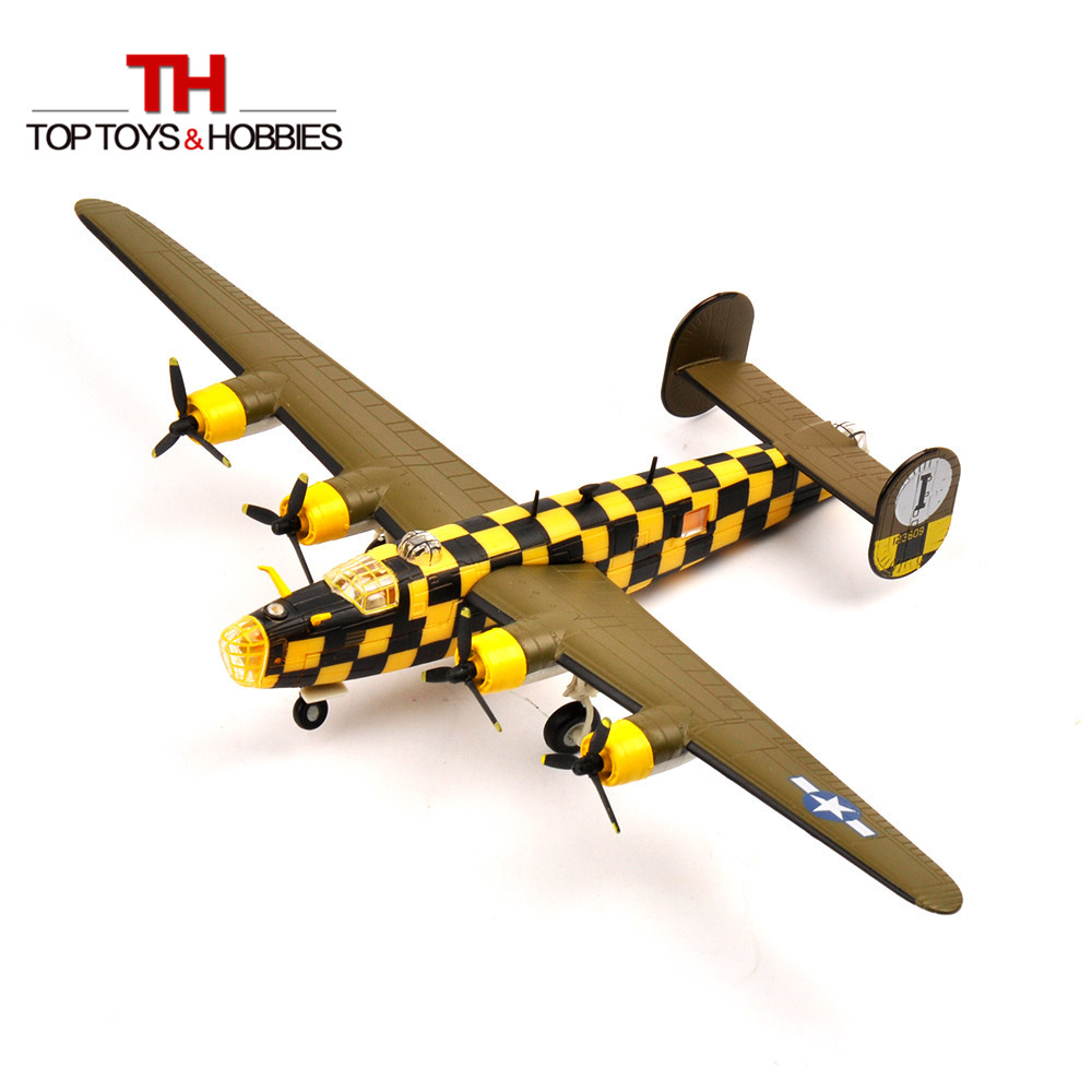 RV-MODEL 1:144 WW2 USA B24 Liberator Bomber Diecast Fighter Model Military Airplane Collectible Toy Aircraft Gift(China (Mainland))