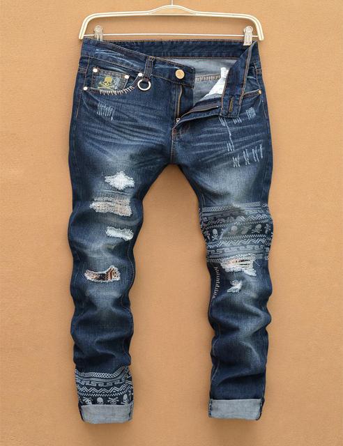 Lp35 бесплатная доставка 2016 мужской прямой ногой джинсовые брюки мужчины мода италия ...