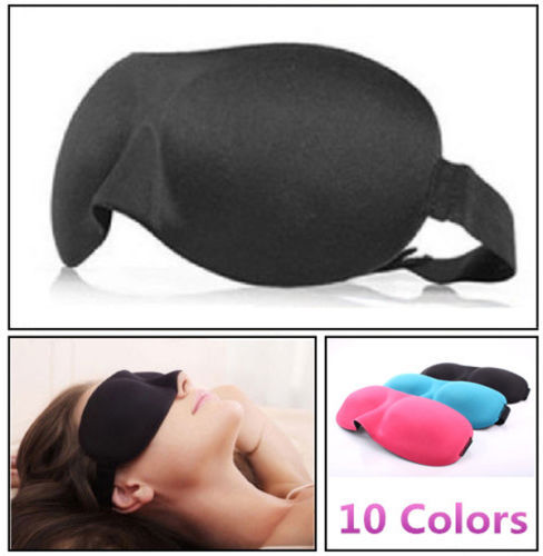 1 PCS NEW Sleeping Eye Mask Blindfold Shade Travel Sleep Aid Cover 3D Portable Patches 9 Colors(China (Mainland))