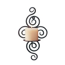 New Home Candlestick Holders Handmade Iron Hanging Wall Sconce Candle Holder Shelf Furnishing Articles Decoration(China (Mainland))