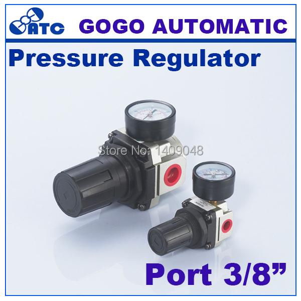 GOGO Air compressor regulator control air pressure pneumatic AR3000-03 thread 3/8 inch BSP SMC type air treatment units(China (Mainland))