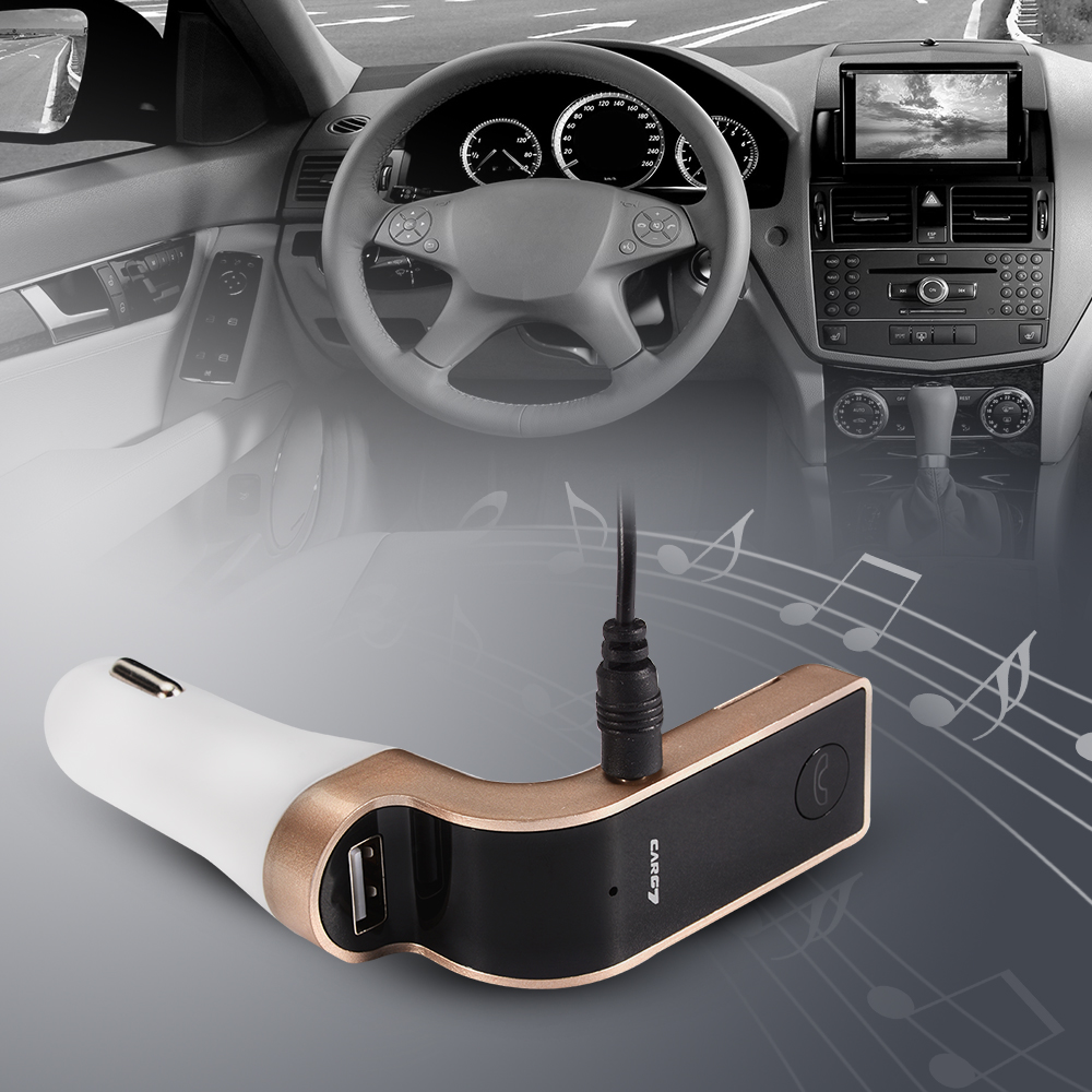 CAR G7 FM Bluetooth Transmitter Car MP3 SD Charger Radio USB Port Players MA350(China (Mainland))