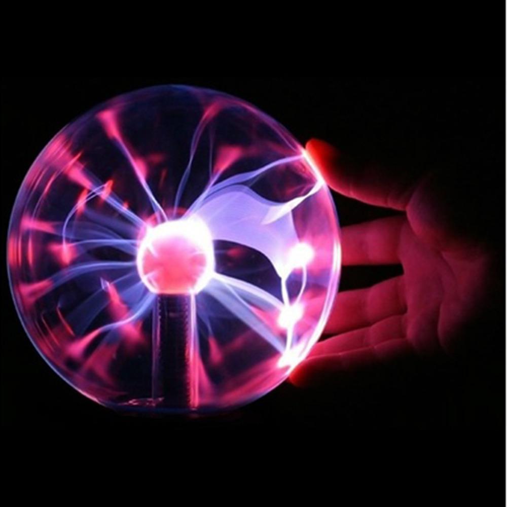"3"" USB Plasma Ball electrostatic Sphere Light Magic Crystal Lamp ball Desktop Globe Laptop Lightning Light Lamp Christmas Party(China (Mainland))"