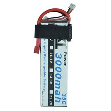 XXL 2S lipo battery 7.4v 3000mAh 35C For RC helicopter car boat quadcopter FPV Drone DJI