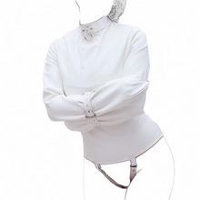 Женщины смирительная рубашка искусственной кожи строгая связывание куртка фетиш костюм секс обучение взрослых секс игрушки SM тело жгут фетиш костюм