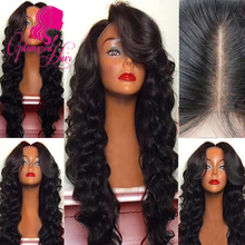 8A Grade Full density Virgin Brazilian Human Hair wigs Full Lace Wig in Natural baby hair hairline Lace Front Wig Glueless Wig(China (Mainland))