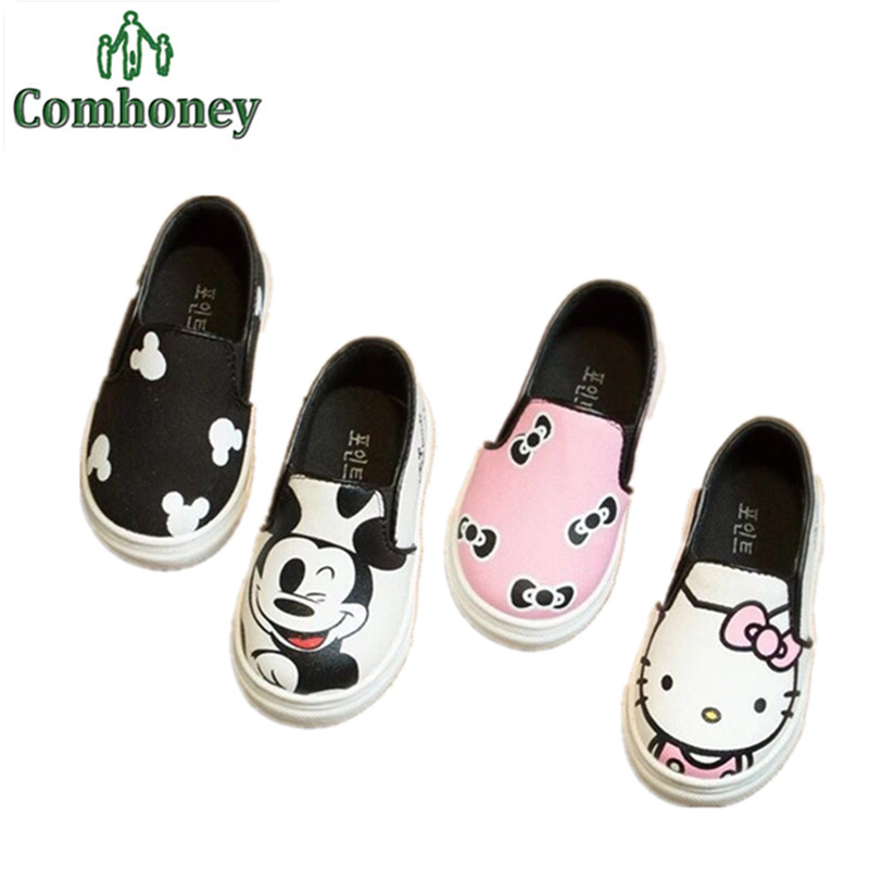 Hello Kitty Children Shoes For Girls Baby Canvas Sneakers Minnie Mouse Sneakers Kids Shoes For Boys Girls Chaussure Enfant(China (Mainland))