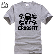 New Cheap Tees Crossfit T Shirts Mens Gym Training T-Shirt Fitness Sport Top Tees Skull Swag Cotton O Neck Clothing Short Sleeve