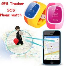 Дети Подарок Смарт-Телефон-Часы GPS Трекер Анти-потерянный, интерком/SOS/поддержка sim-карту Ребенка Гвардии Наручные Часы для iPhone IOS и Android