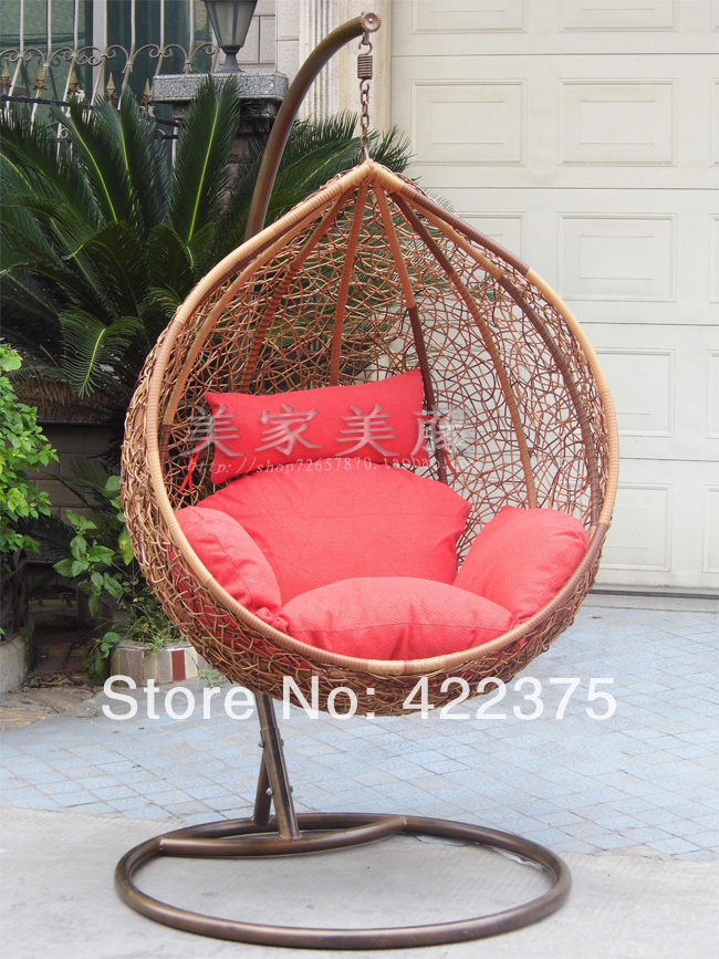 2014 promotion rushed yes black purple blue outdoor indoor rattan chair lounger swing hanging basket rocking double bird nest(China (Mainland))