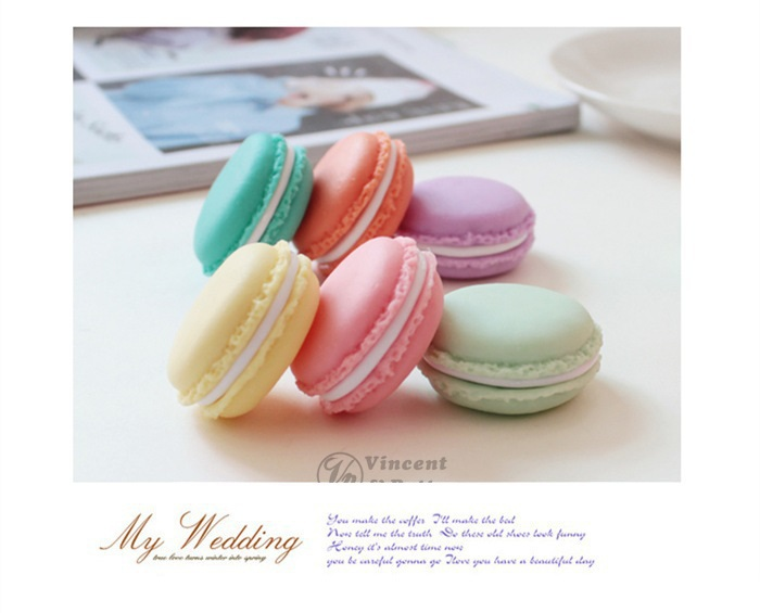 Macaron storage box organizer for jewelry Mini Candy Color 5 Colors Free Shipping(China (Mainland))