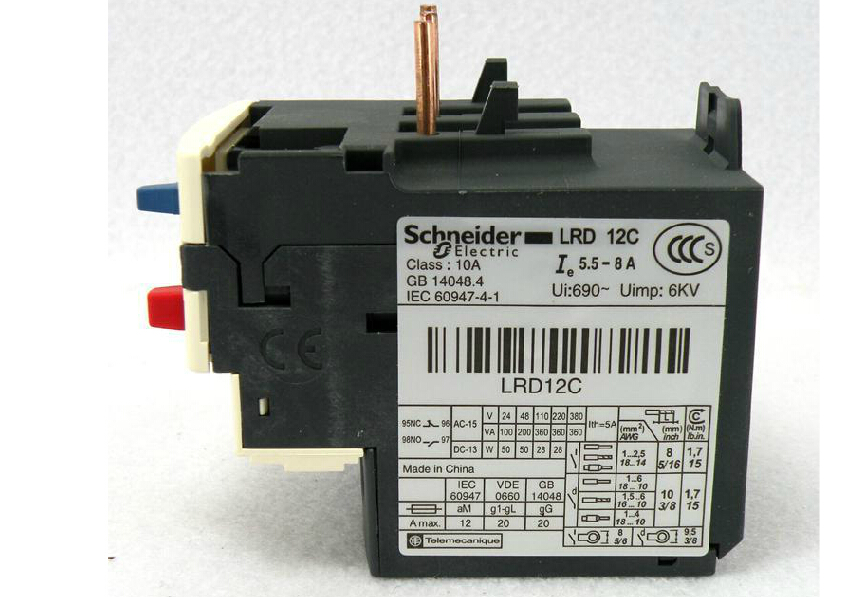 Thermal relay thermal overload relay  LRD12C LR-D12C 5.5-8A <br><br>Aliexpress