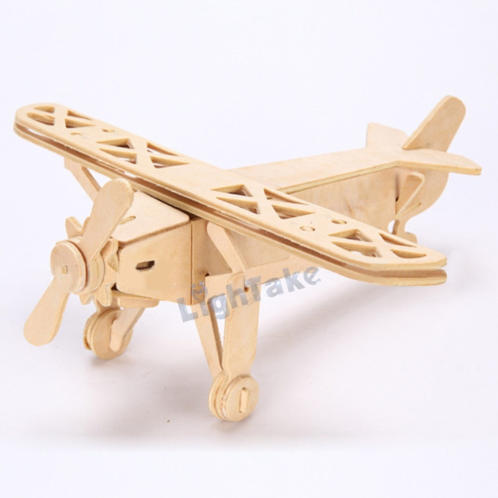 Educational Wooden 3D Jigsaw Puzzle Louis Plane Model Toy DIY Kit for Adults And Children's Learning Gift()
