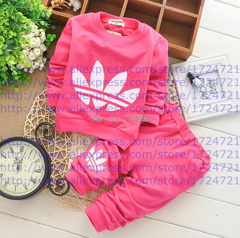 Гаджет  2015 Newborn Baby Clothing Sets Toddler Boys Girls Leisure Suits Long Sleeve T-shirts + Pants 2pcs Kids Clothes Free Shipping  None Детские товары