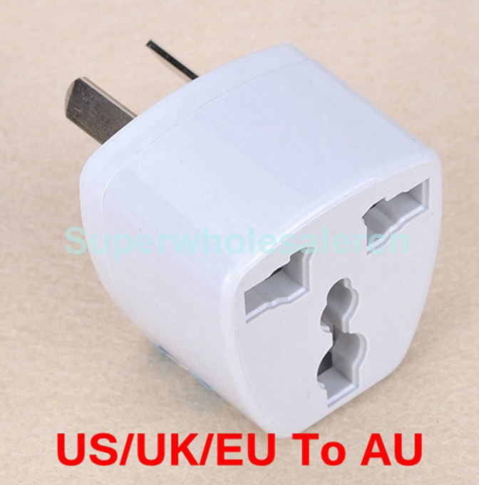 300 Pcs/lot Hot Sale Universal Travel AU Charger Plug Adaptador AC Electrical Power Converter US/UK/EU To Au Plug Adapter Socket(China (Mainland))