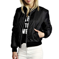 Thin Bomber Jacket Women Spring Autumn Basic Coat Full Sleeve Slim Fitness Female Jackets Chaquetas Mujer