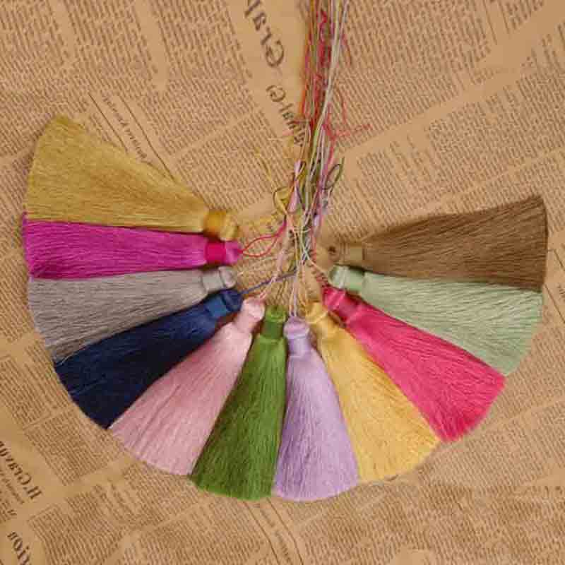Tassel Pendant DIY Jewelry Making Findings Mixed Cotton Necklace Silk Charm Pendants Tassels Accessories Handmade Wholesale Gift(China (Mainland))